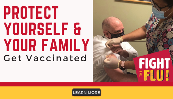 Protect yourself and your family. Get vaccinated. Fight the flu. For more information, visit this website: https://health.maryland.gov/phpa/influenza/Pages/home.aspx