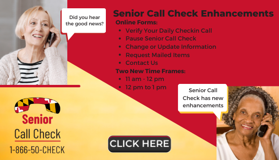 Senior Call Check Enhancements announcing online forms and new time frames.