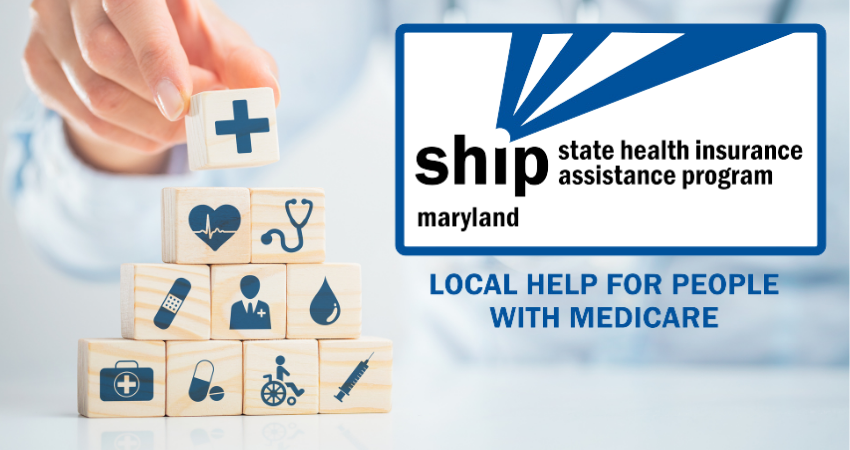 State Health Insurance Assistance Program logo. Tagline says: Free, unbiased, local help for people with Medicare.